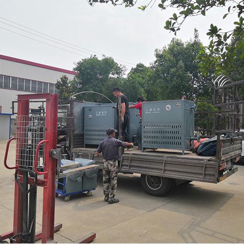 导热油电加热器发货现场